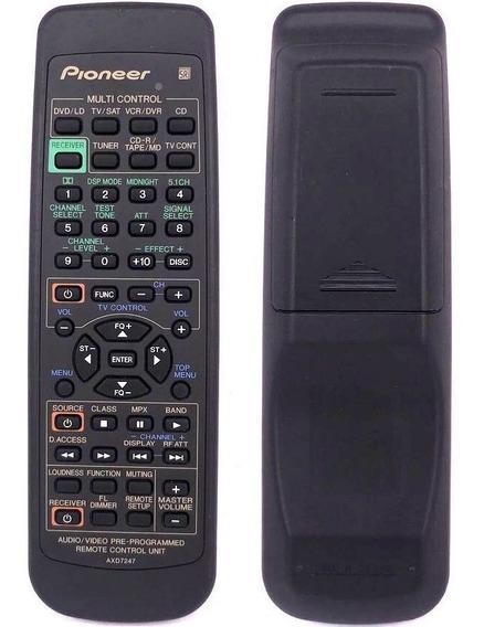 Controle Remoto P/ Receiver Pioneer Vsx-d409 Vsx-d608-g Novo