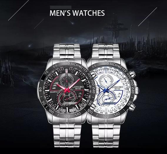 Longbo 80132 Relógio De Pulso Quartzo Aço Inoxidável