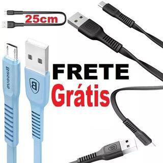 Frete Free Cabo Micro Usb V8 25cm Carga Dados Celular Tablet