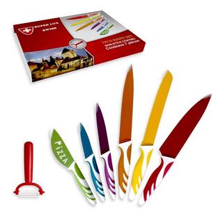 Set 6 Cuchillos + Pelador Acero Inoxidable Cerámico R4490