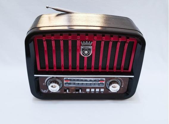 Radio Retro Bluetooth J108bt Tipo Antigo Fm Am Usb Bivolt