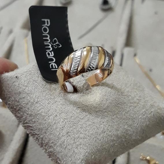 Anel Feminino Rommanel Banhado A Ouro 18k Semijoia De Luxo