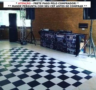 Pista De Dança - 4x3m - 12m² Tapete Xadrez Dj Festa Balada