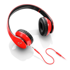 Fone C/ Microfone Vermelho Preto Ph112 Multilaser
