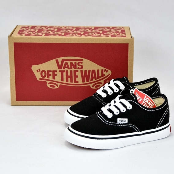 Vans Authentic Tenis Bebe Negro-blanco 100% Originales