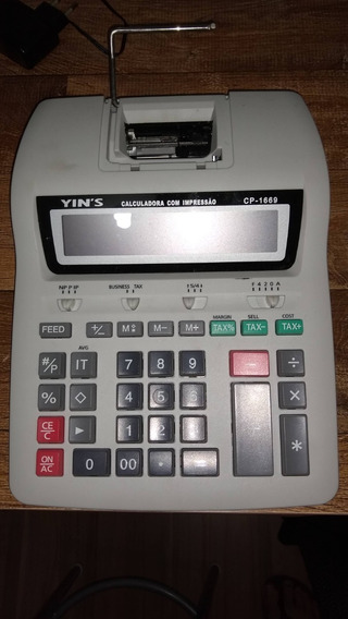 Calculadora Com Impressão Cp 1669 Yin