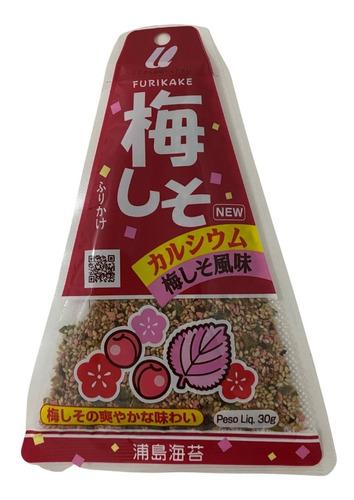 Imagem 1 de 3 de Furikake Umeshiso 30g Urashima Ameixa Ume E Shiso