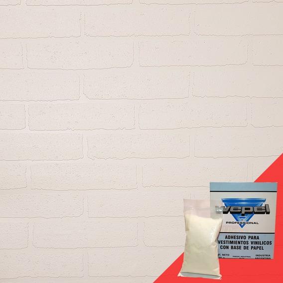 Papel Pintable Muresco Murpaint Ladrillos 32014 Adhesivo Gratis