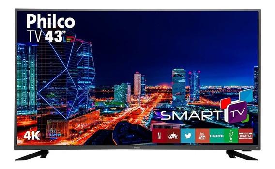 Smart Tv Led 43 Philco Ptv43f61dswnt Ultra Hd 4k 3 Hdmi Usb