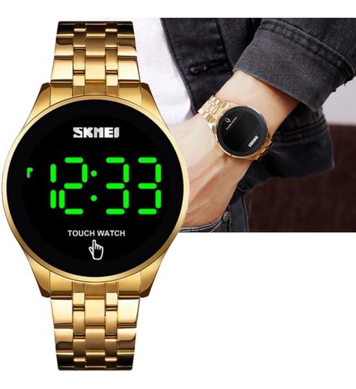 Relógio Unissex Skmei Digital Touch Watch Dourado 1579
