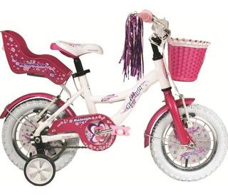 Bicicleta Raleigh Rodado 12 Nena Aluminio Cupcake Rosa