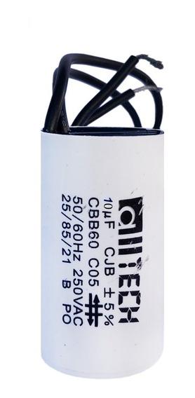 Capacitor 10uf 250 Vac Para Ventilador 2 Fios