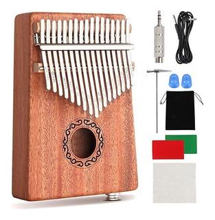 Cxhome Kalimba 17 Key Thumb Piano,mahogany Portable Electric