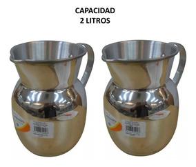 Jarra Cafetera De Aluminio 2 Litros 2 Piezas Incluye Envío