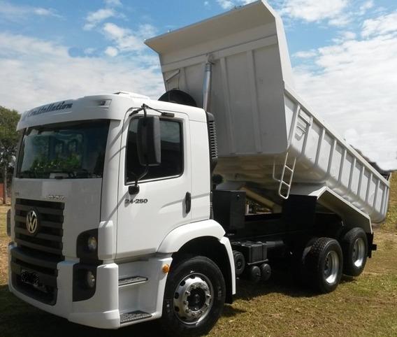 Vw 24250 Truck Caçamba 12mts 2012 C/ar Inteirão