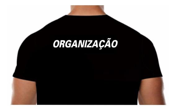 Camisa Malha Fria Pv Preta Estampa Organização