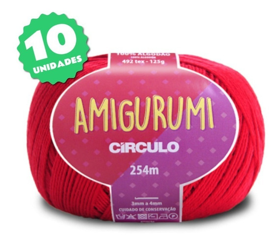 Fio Amigurumi - Kit 10 Unidades