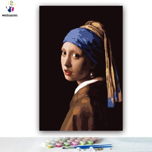 Imagen 1 de 4 de Pintar Por Kits Número Pintura Al Óleo Diy Lienzo 12 X 18
