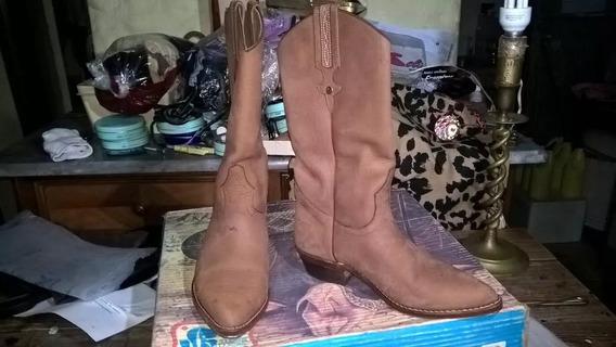 Botas Texana Jr Boots Nobuk Sellada Forrada Talle 35- 3 Usos