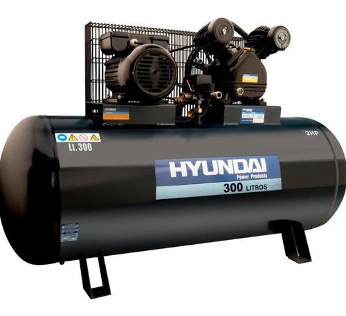 Compresor De Aire Hyundai 300l 5.5hp Trifasico  G P