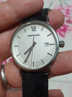 Relógio Montblanc Original Social Pulseita Couro Italiano