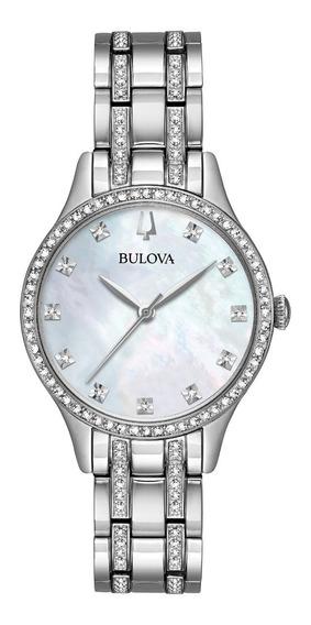 Set Bulova Crystal 96x145 Dije Y Brazaletes Time Square