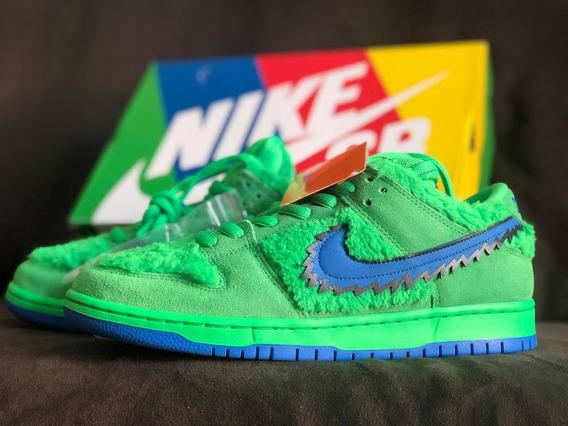 Nike Sb Dunk Low Grateful Dead Bears Green Verde 39