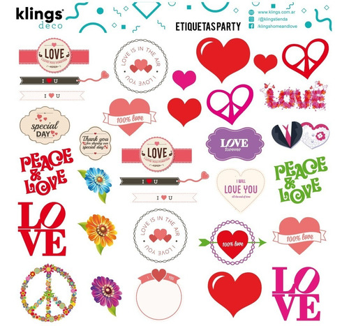 Etiquetas Para Frascos Botellas Cuadernos Amor Love