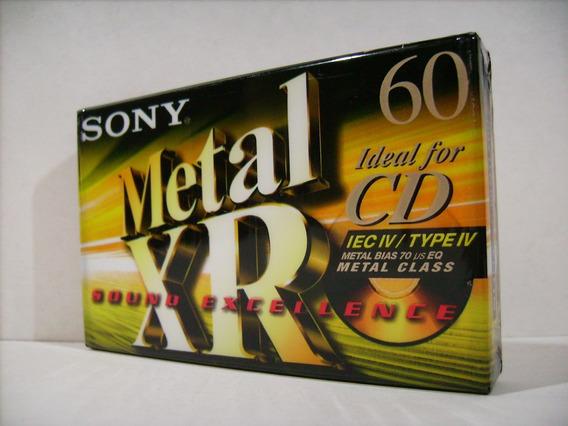 Fita K7 Cassete Sony Xr 60 - Metal - Lacrada