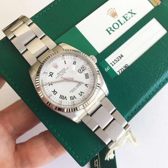 Rolex Oyster Perpetual Date Ouro Branco & Aço 34mm 2017