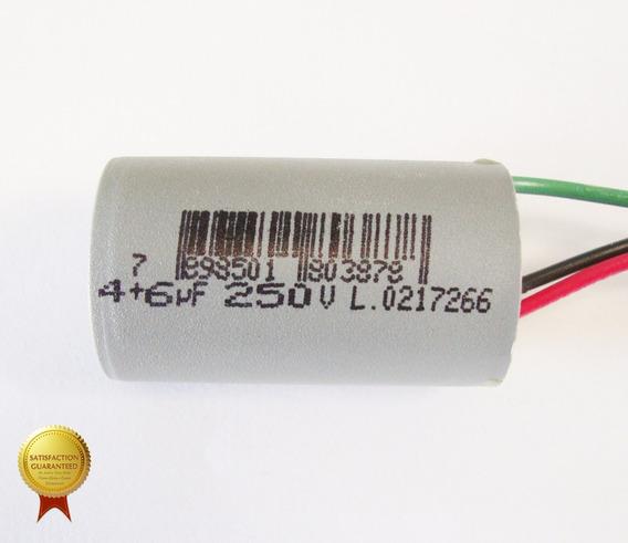 Capacitor Para Ventilador 3 Fios 10uf ( 4 + 6 ) Uf
