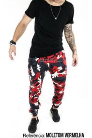 Calça Jogger Masculina Jeans Elástico Camuflada Qualidade Ct