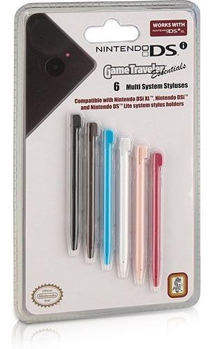 Kit 6 Canetas Stylus - Nintendo Ds, Dsi, Dsi Xl E Ds Lite