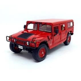 Miniatura Hummer 4-door Wagon Vermelho Maisto 1/18