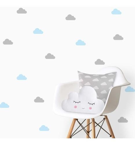 Imagem 1 de 7 de Adesivos Decorativos, Nuvens 10x5cm 150 Unidades Nuvem
