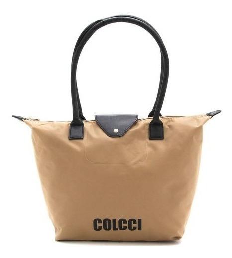 Bolsa Colcci Logo Pratica Bege Lançamento Original Nova