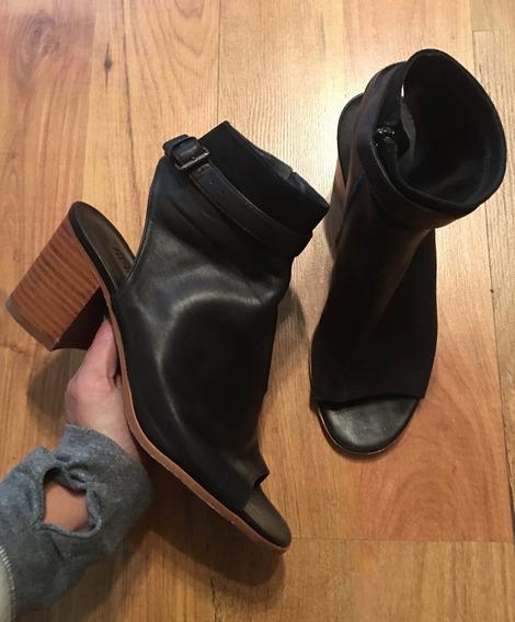 Zapatos Tacones Vince Openlie Piel Finísima 24 Originales!!