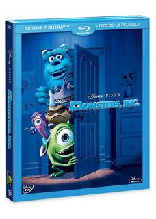 Pelicula Monster Inc Contiene 2 Bluray + Dvd (pixar Disney)