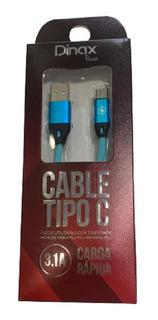 Cable Usb Tipo C Carga Rapida 1 Metro Dinax Celular