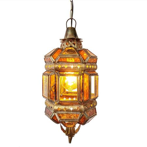Lanterna Marroquina Decorativa Pendente Artesanal Rústico