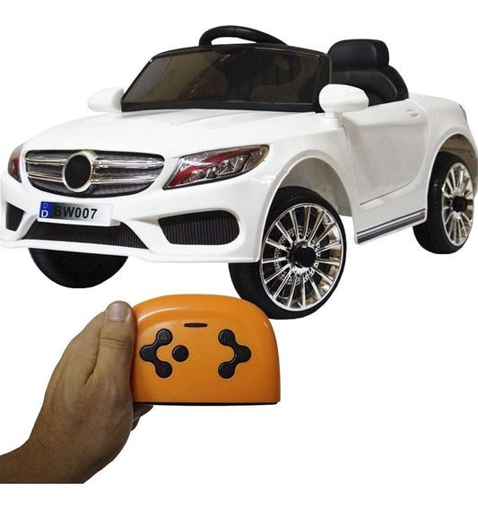 Carro Carrinho Elétrico Infantil Bateria 12v Controle Farol