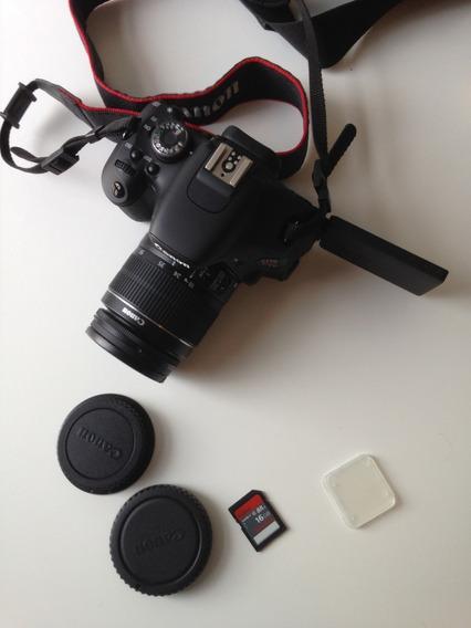 Câmera Canon T3i + Cartão 16gb + 2 Baterias + Carregador
