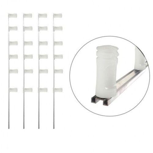 5 Haste Alumínio Tipo M P/ Cerca Elétrica 6 Isolador 1 Metro