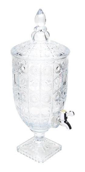 Suqueira Dispenser De Cristal P/bebida C/pé Starry 4l Wolff