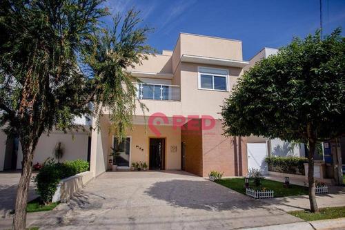 Lindo Sobrado Com 4 Dormitórios À Venda, 309 M² Por R$ 1.400.000 - Condomínio Portal Da Primavera - Sorocaba/sp - So0339