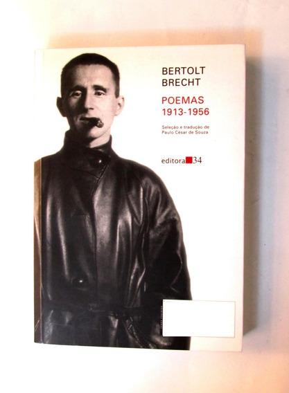 Livro Poemas - Bertolt Brecht 1913 -1956, Usado