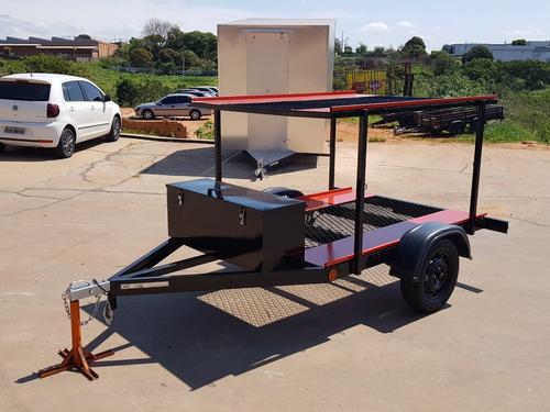 Carretinha Reboques P/ 2 Karts - Tipo Beliche Zero Km