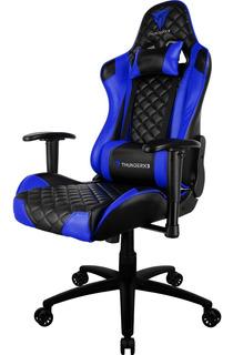 Cadeira Gamer Profissional Revestimento Em Couro Thunderx3