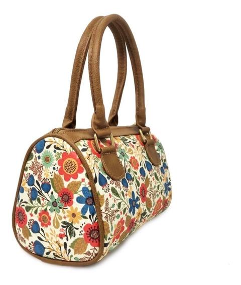 Bolsa De Dama Mini Con Diseño En Flor Tipo Grabado