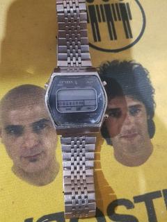 Reloj Citizen Vintage Digital Retro 80 Para Coleccionistas